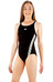 speedo Endurance10 Monogram Muscleback Swimsuit Girls black/white